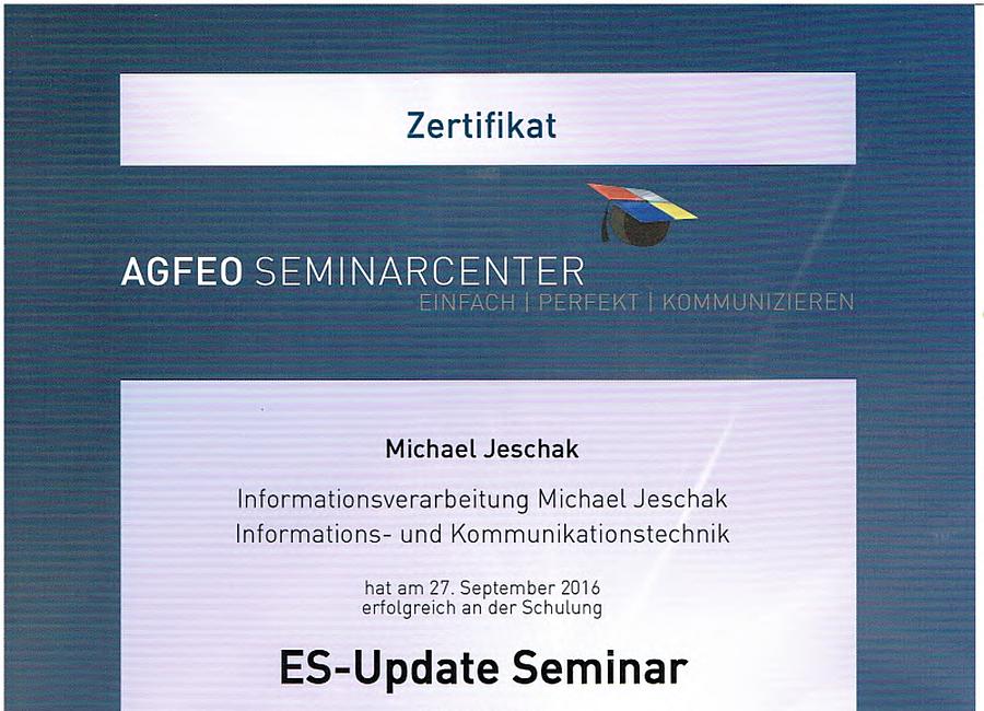 AGFEO ES-Update Seminar 27.09.2016