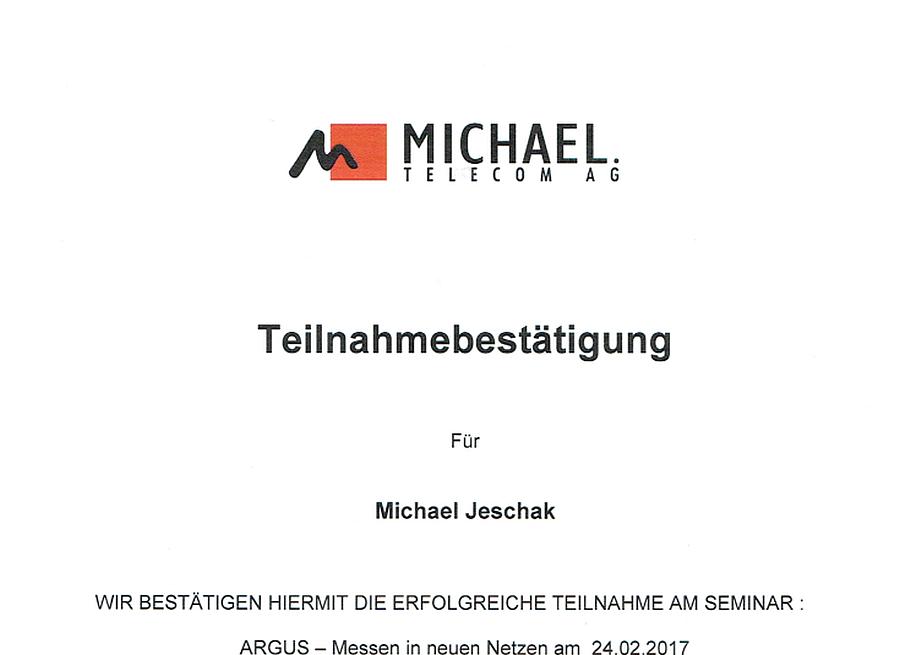 Michael Telecom ARGUS Messen in neuen Netzen 24.02.2017