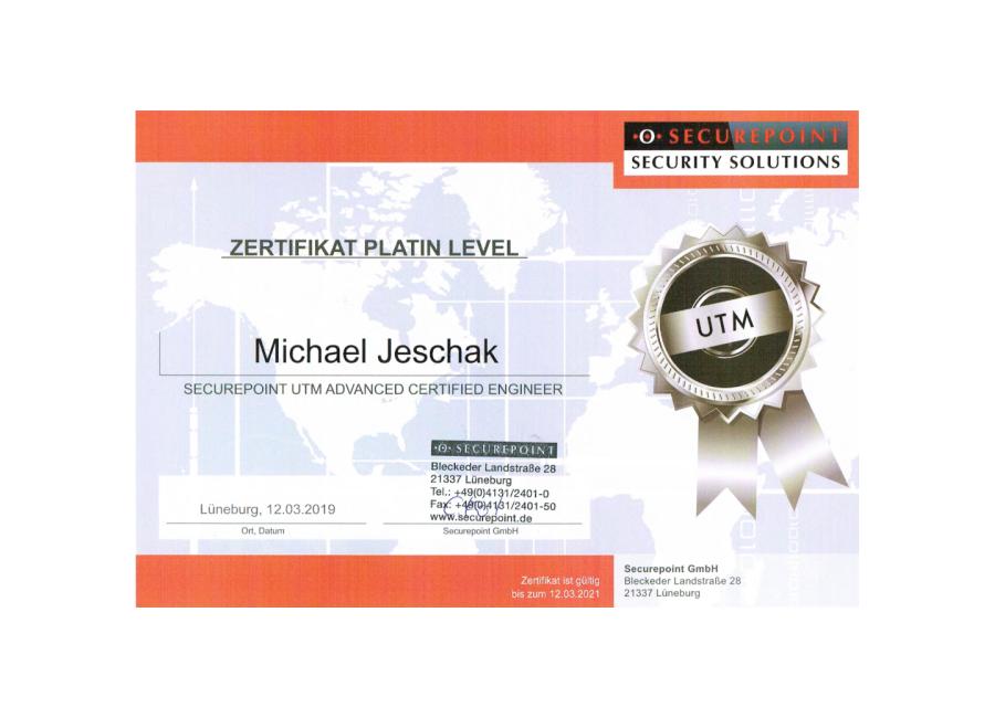 Securepoint Zertifikat Platin Level