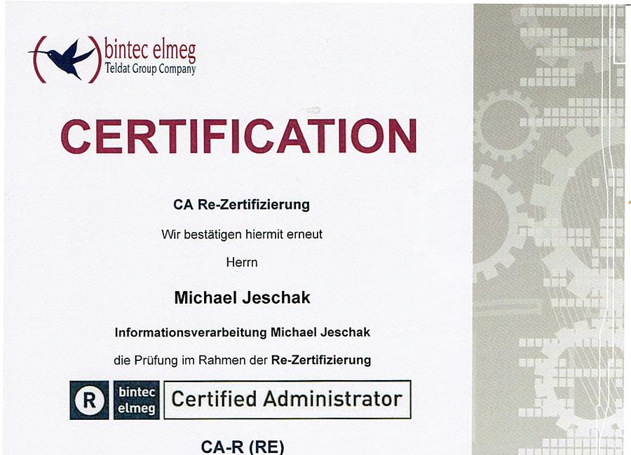 bintec-elmeg Certified Administrator CA-R (RE) 18.11.2016
