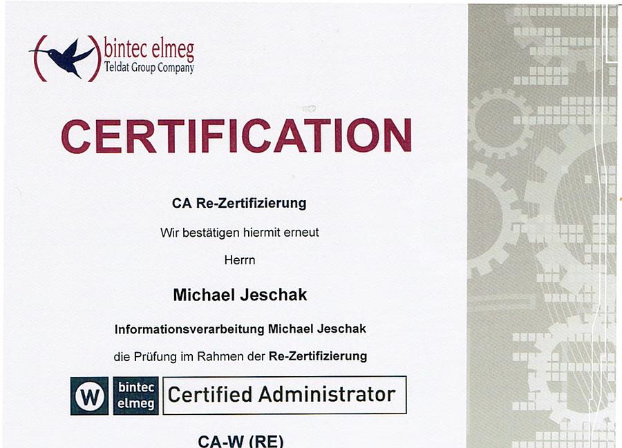 bintec elmeg Certified Administrator CA-W (RE) 18.11.2016